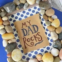 自制父亲节礼物相框 用石头改造相框的方法