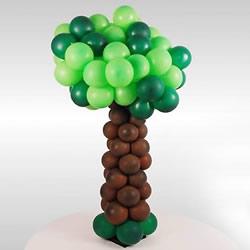 气球造型大树手工制作 植树节用气球做大树