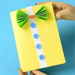父亲节衣服卡片手工制作 用卡纸做领结贺卡