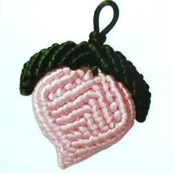 斜卷结编织寿桃的方法 中国结桃子怎么编图解
