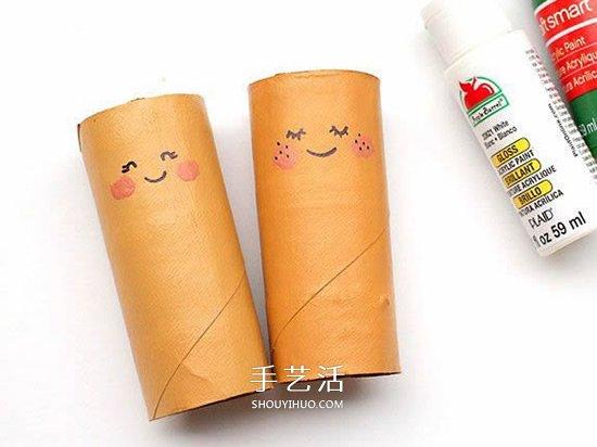 幼儿园人偶制作 用卷纸筒做超萌女孩美人鱼 -  www.shouyihuo.com