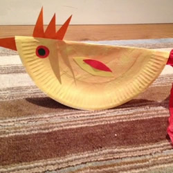 幼儿手工大公鸡怎么做 纸盘制作公鸡的方法