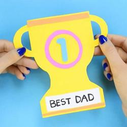 创意有趣的父亲节贺卡 手工奖杯卡片制作方法