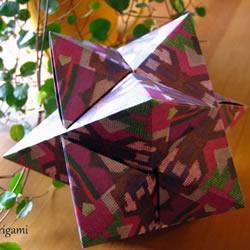 拼纸制作花球的方法 立体星星的折叠步骤