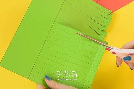 幼儿手工毛毛虫做法 卡纸制作毛毛虫简单教程 -  www.shouyihuo.com