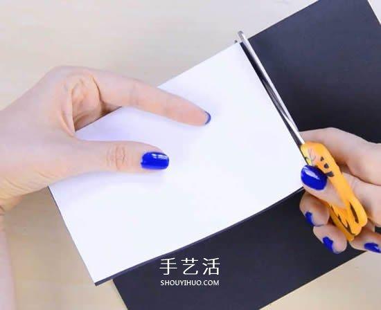 有趣的父亲节卡片DIY制作 穿黑西装打领结! -  www.shouyihuo.com