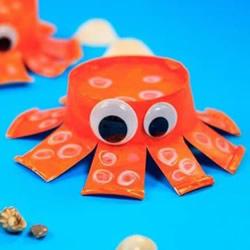 纸杯章鱼的制作方法 简单幼儿园小章鱼怎么做