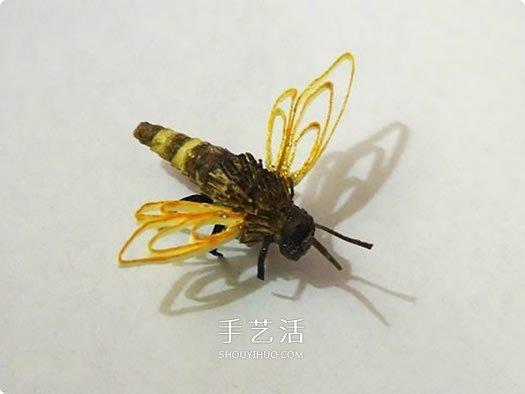 手工衍纸蜜蜂教程图解 怎么用衍纸制作小蜜蜂 -  www.shouyihuo.com