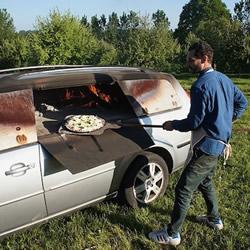 DIY旧汽车披萨烤炉 用平凡物品创造不凡乐趣