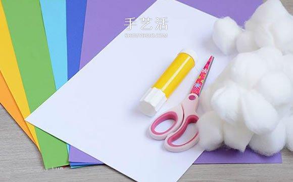 儿童手工制作彩虹教程 怎么做卡纸彩虹的方法 -  www.shouyihuo.com