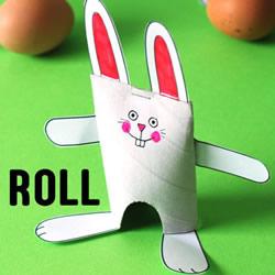幼儿园废物利用做小白兔 卷纸筒制作兔子图解