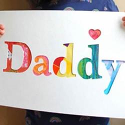 幼儿园父亲节贺卡手工制作 超级简单漂亮!