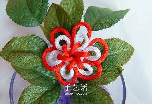 中国结之团锦结滚边法编织小花饰品的方法 -  www.shouyihuo.com