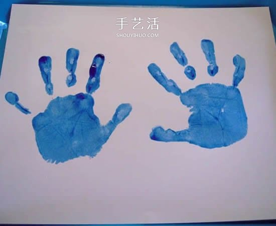 自制父亲节手印贺卡 简单有创意父亲节卡片DIY -  www.shouyihuo.com
