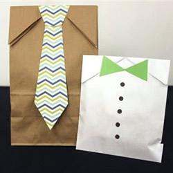 创意父亲节礼物袋DIY 把牛皮纸袋改造成衣服