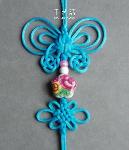 中國風蝴蝶掛飾編織圖解 傳統中國結掛飾編法