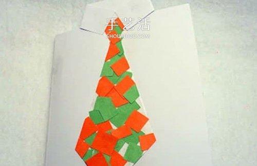 拼贴帅气的小领带!可爱父亲节卡片手工制作 -  www.shouyihuo.com