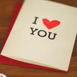 """最简单又简洁好看的""""我爱你""""卡片手工制作"""