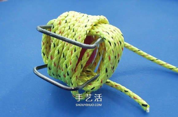 繩子編織球體的方法 怎麼用繩編圓球小掛件