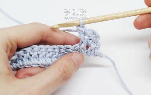 基本鉤針羅紋針的鉤法圖解 帽子手袋都能用上