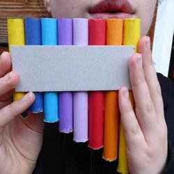 自制简易排箫的方法 儿童用卡纸做排箫玩具