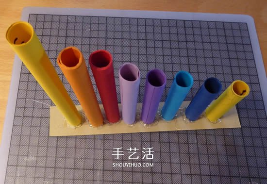 自制简易排箫的方法 儿童用卡纸做排箫玩具 -  www.shouyihuo.com