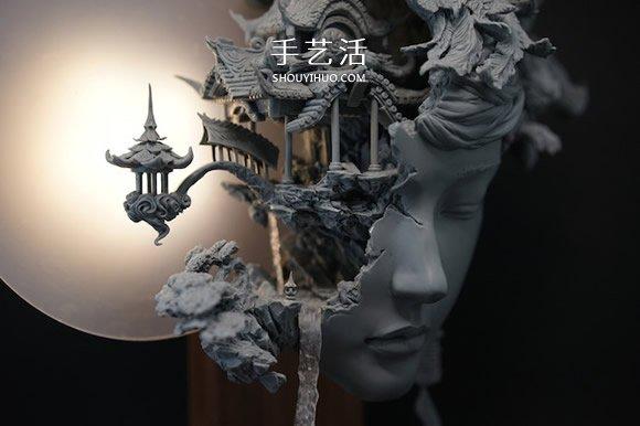 气势磅礡的细腻泥塑作品:嫦娥与桃花女 -  www.shouyihuo.com