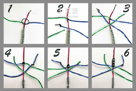 八角螺母編織男人手鏈 情人節送男友的禮物