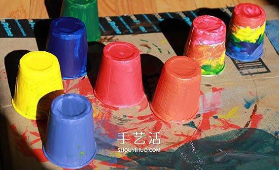 幼兒園手工風車的做法 紙杯製作簡易風車教程