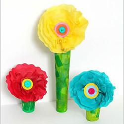 儿童手工彩纸花的做法 简单彩纸制作花朵图解