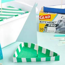硬纸板做小船的方法 儿童手工三角形帆船制作