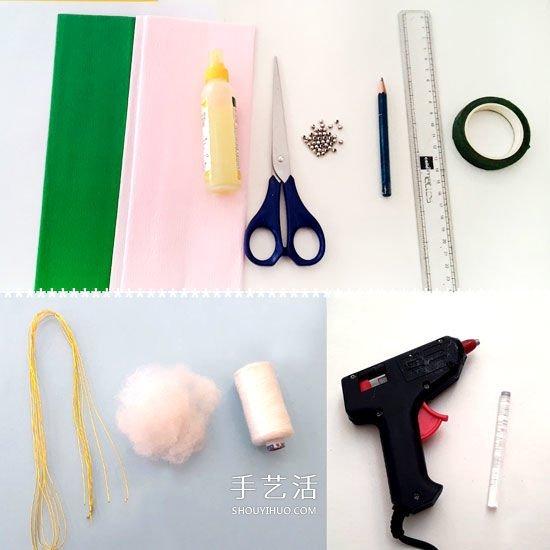 手工皱纹纸玫瑰的做法 简易玫瑰花手工制作 -  www.shouyihuo.com
