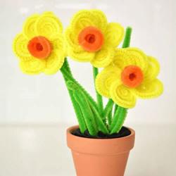 儿童扭扭棒小花手工制作 简单用扭扭棒做花朵
