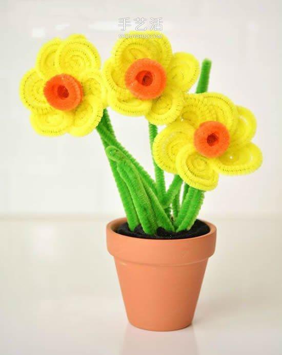 儿童扭扭棒小花手工制作 简单用扭扭棒做花朵 -  www.shouyihuo.com