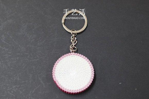 饭小姐的环保小手工 利用瓦楞纸制作火龙果挂件 -  www.shouyihuo.com