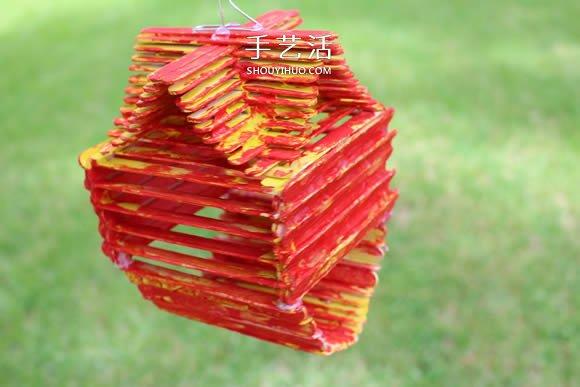 自製鳥舍的方法教程 雪糕棍廢物利用做鳥窩