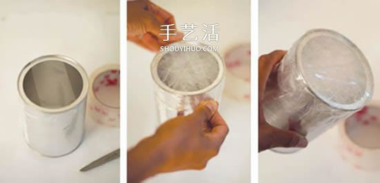 自製玩具鼓的方法圖解 鐵罐廢物利用做鼓教程