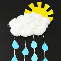 简单太阳雨挂饰的做法 幼儿纸盘制作太阳雨