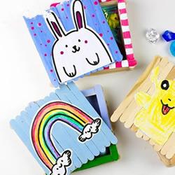 雪糕棍手工制作收纳盒 DIY带盖方形收纳盒做法