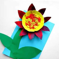 用纸盘制作向日葵的方法 简易纸盘向日葵DIY