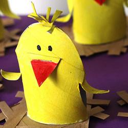 鸡窝里的小鸡手工制作 卷纸筒怎么手工做小鸡