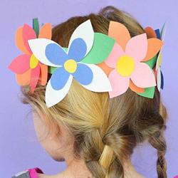 儿童手工制作花环头饰 DIY卡纸花环的简单做法