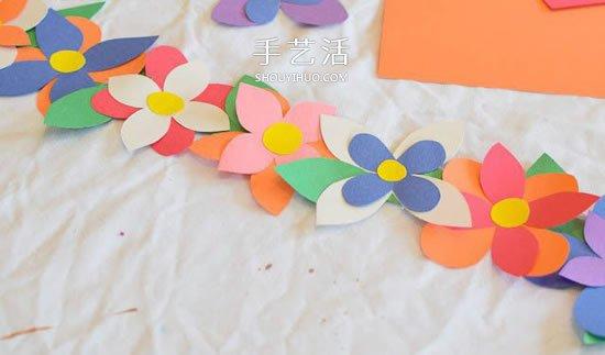 儿童手工制作花环头饰 DIY卡纸花环的简单做法 -  www.shouyihuo.com