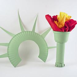 废物利用手工制作自由女神像和火炬的方法