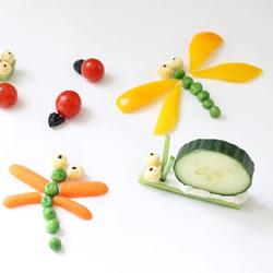 简单蔬菜昆虫的做法 蜻蜓蜗牛用蔬菜做教程