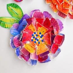 纸盘花的制作方法图解 简单用纸盘做花教程