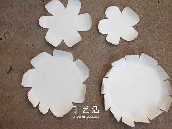 紙盤花的製作方法圖解 簡單用紙盤做花教程