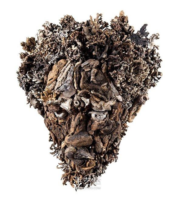 五官脸孔全浮现 最野性原始的人物木头雕像 -  www.shouyihuo.com