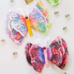 简单蛋糕纸蝴蝶的做法 幼儿手工蝴蝶制作教程