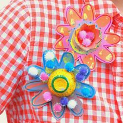 自制简易胸花的方法 鸡蛋托手工制作胸花教程